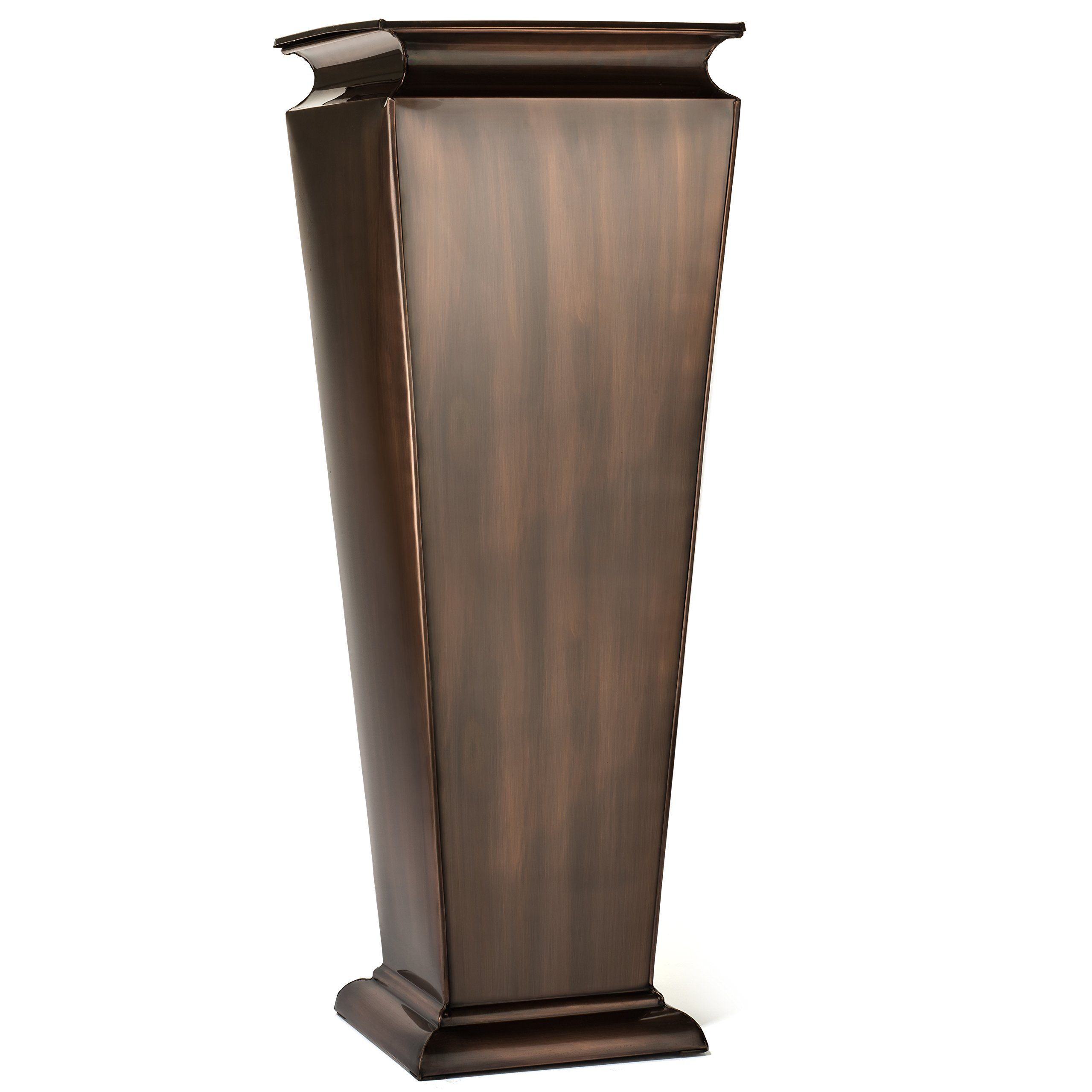 H Potter Tall Outdoor Planter Copper Large Flower Pots Indoor for Patio Balcony Garden Deck Front Porch Entryway by H Potter