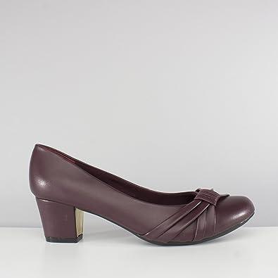 ad90d833f36 Comfort Plus Sharon Ladies Sash Wide Fit Court Shoes Burgundy UK 5 ...