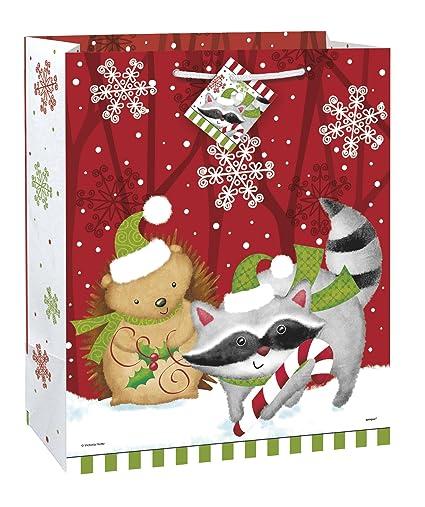 large woodland christmas gift bag - Woodland Christmas