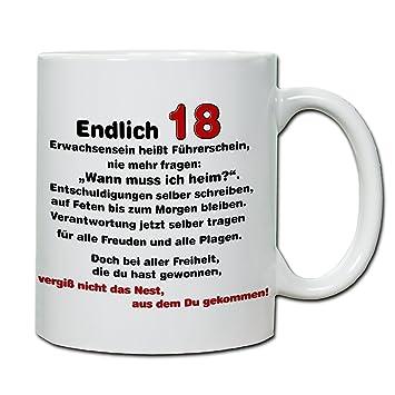 Spruch Zum 18 Geburtstag Für Karte.Handmade In Nb By Comprojekt Foto Tasse Mit Spruch 18 Geburtstag
