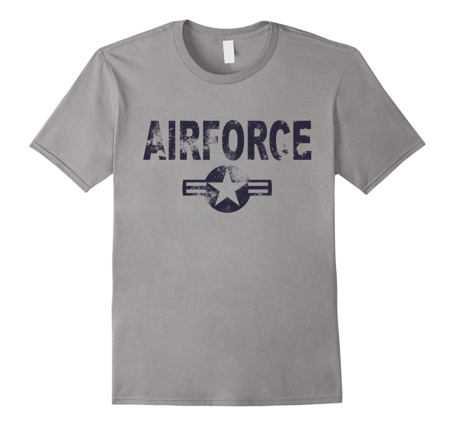 Airforce T-Shirt Cool Casual Military Distressed Top Tee-T-Shirt