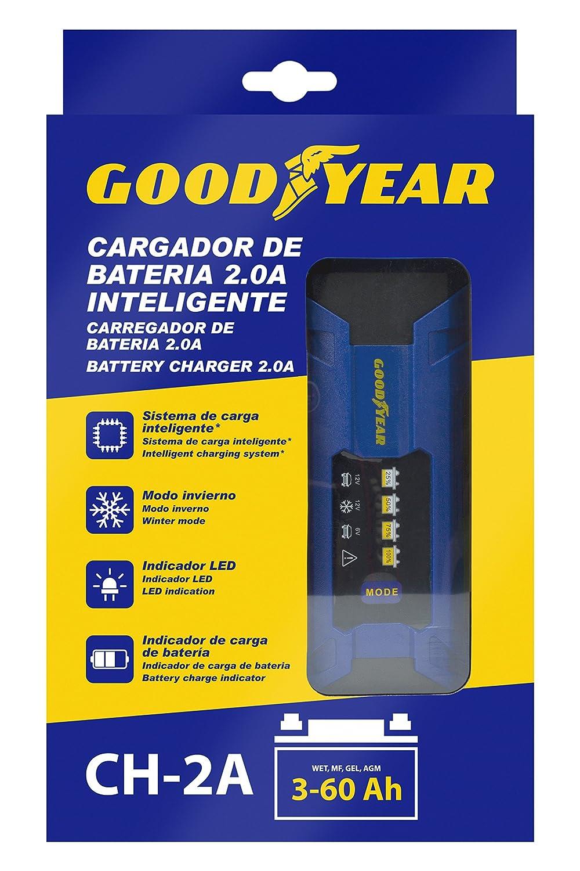 Goodyear Cargador de batería portátil con indicador LED - 2.0A