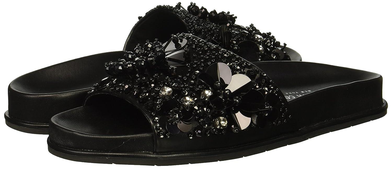 Kenneth Cole New York Women's Xenia Embellished Pool Slide Sandal B07C3FJBNQ 11 B(M) US|Black/Multi