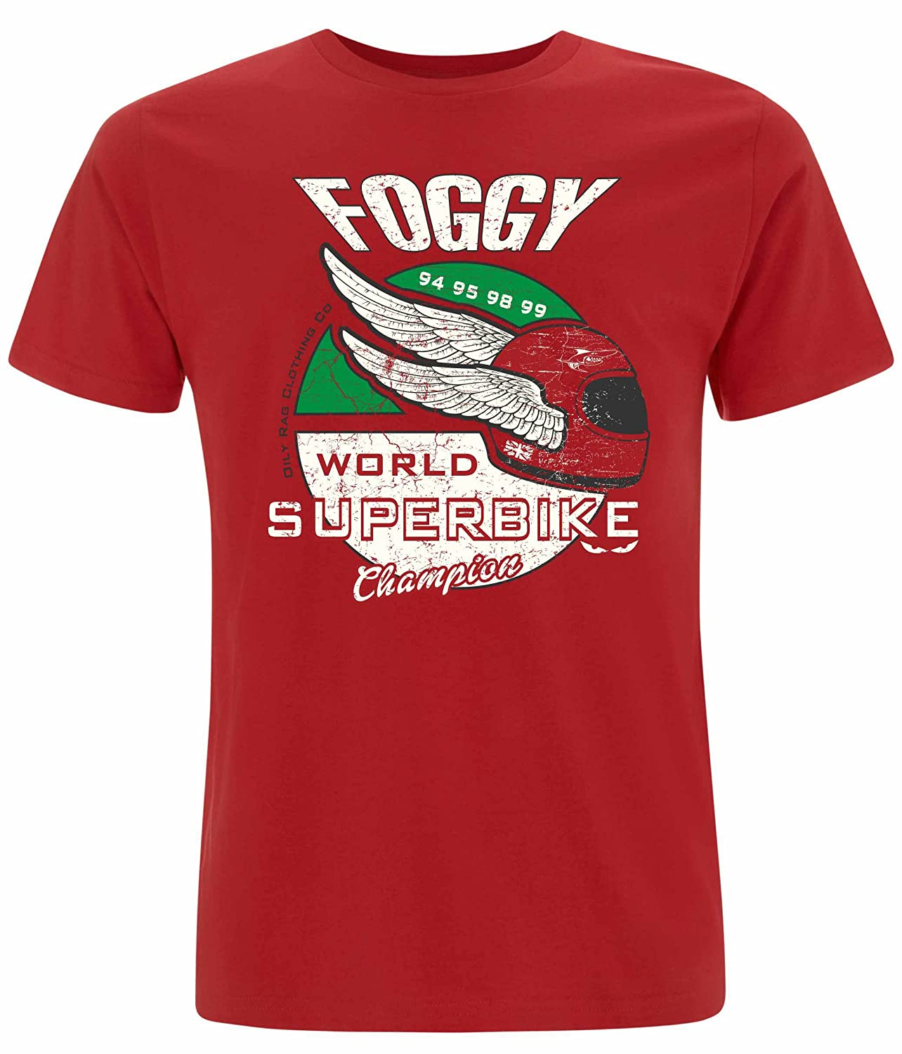 Carl Fogarty Winged Helmet T shirt. Official product.