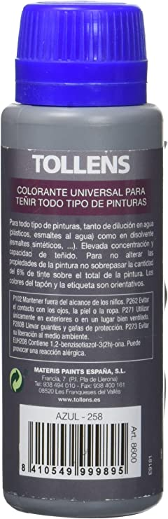 Tollens 8600 Tinte Universal, Azul, 100 ml: Amazon.es ...