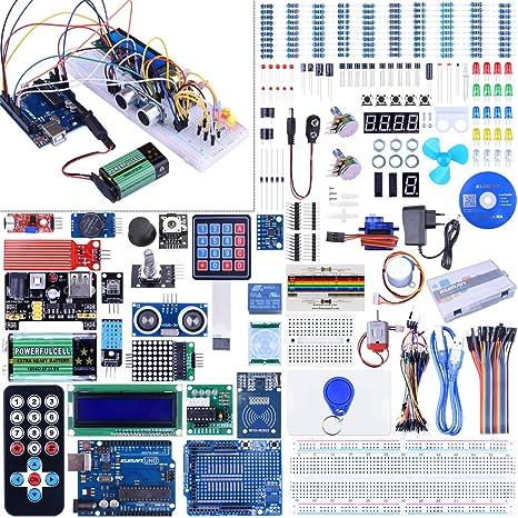 Kuman Starter Kit para Arduino Última Uno R3 Programación Robot Kits Mega Nano Proyectos w/