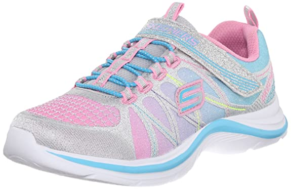 Skechers Kids Swift Kicks Training Shoe (Little Kid/Big Kid), Blue/Aqua, 11 M US Little Kid