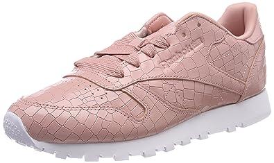 Lthr Chaussures Femme Cl De Crackle Gymnastique Chalk Reebok Rose zZ6qwW
