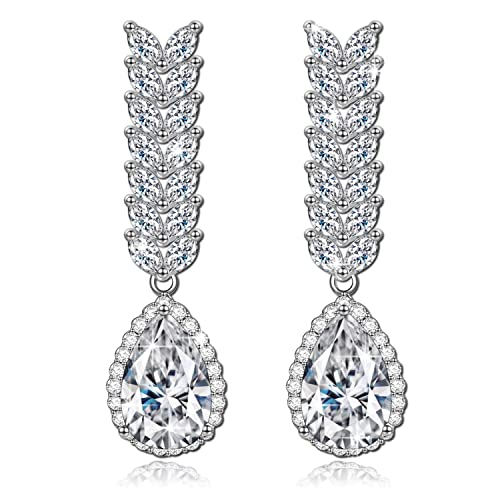 QIANSE Forever Love White Gold Plated Necklace Cubic Zirconia Earrings, Swarovski Crystals Jewelry – Gift Packing