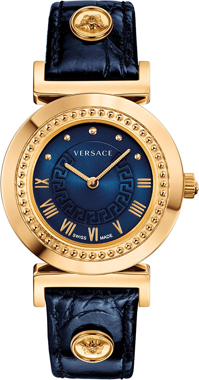 Mujer Reloj Versace Vanity Azul – (p5q80d282 S282): Amazon