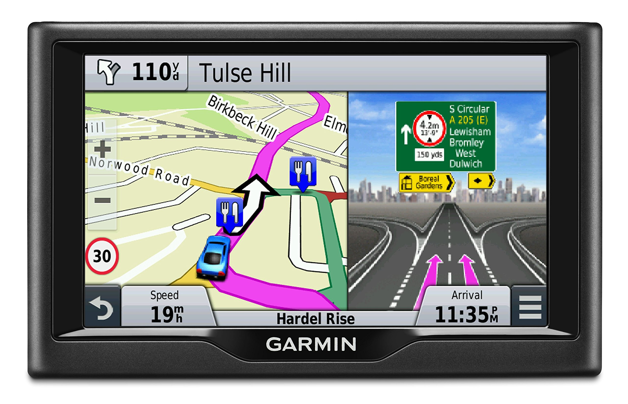 Garmin 010-01400-11 Nuvi 58LM 5 inch Satellite Navigation with UK, Ireland and Full Europe Free Lifetime Maps - Black (Certified Refurbished) product image