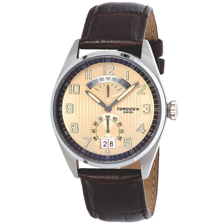 Torgeon Herren-Armbanduhr Analog beige T29102