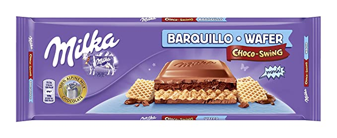 Milka swing tableta de barquillo de chocolate leche(e300g)