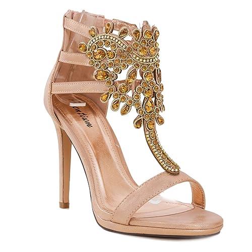 Toocool - Scarpe Donna Gioiello Decollete Sandali Eleganti Strass Sexy  Tacchi PL808-72  41 1a31cc8a2d9
