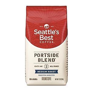Seattle's Best Coffee Portside Blend (Previously Signature Blend No. 3) Medium Roast Ground Coffee, 12 oz