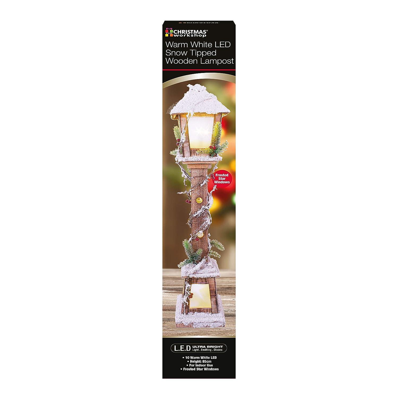 LED Bianco Caldo The Christmas Workshop Snow Lampost Ornamento Larghezza 85/cm di Altezza x profondit/à 16/cm