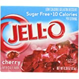 JELL-O SUGAR FREE BLACK CHERRY LOW CALORIE GELATIN DESSERT 1 x 8.5g BOX JELLO