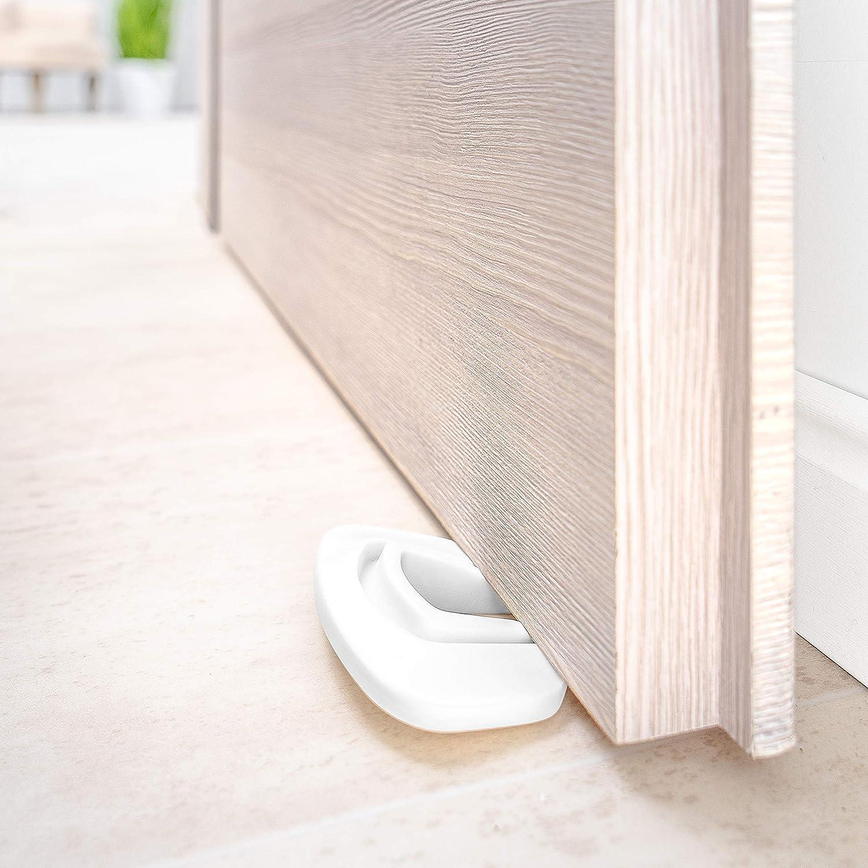 Coona Premium Protección para Puertas bebé - Pack 3 ud. Protector Dedos Seguridad para niños - Tope para puertas blanco: Amazon.es: Bebé