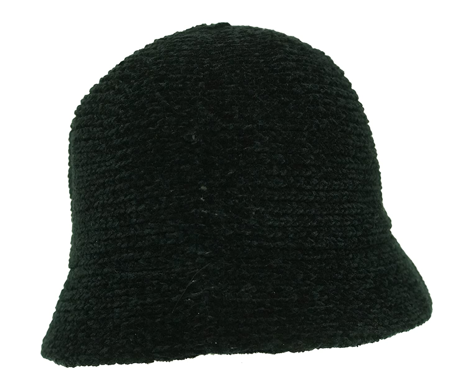 b64372ae6f7 August Hat Womens Chenille Crochet Cloche Hat Black O S at Amazon Women s  Clothing store