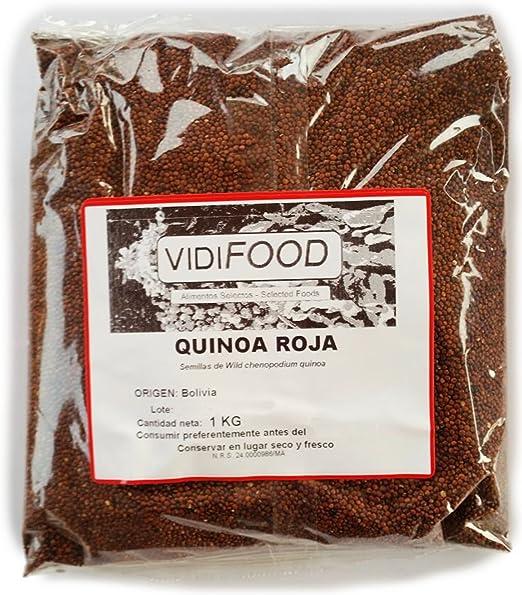 Quinoa Roja - 1kg - Fuente Rica de Aminoácidos, Vitaminas y Minerales - 100% Natural y Sin Toxinas