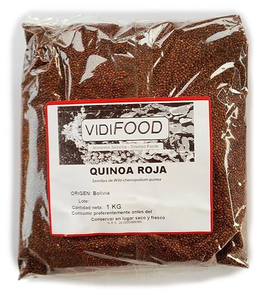 Quinoa Roja - 1kg - Fuente Rica de Aminoácidos, Vitaminas y ...