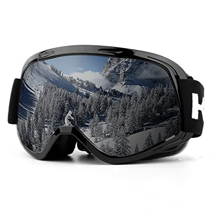 18167854aa3895 Ski Goggles, UV Protection Anti-Fog Detachable Lens Snowboard Goggles with  Wide Angle for