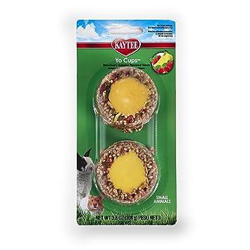 Kaytee Fiesta Copa de Yogur de Fresa plátano Sabor Tratar para pequeños Animales, 3.8-oz: Amazon.es: Productos para mascotas