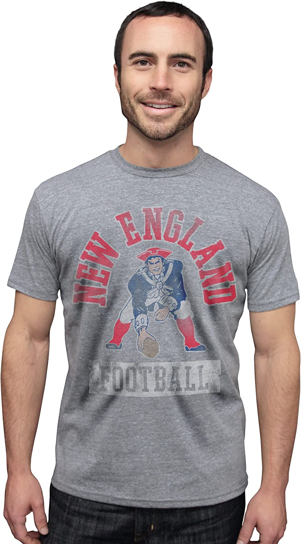 NFL New England Patriots Vintage Triblend Short Sleeve Crew Neck Tee Men's
