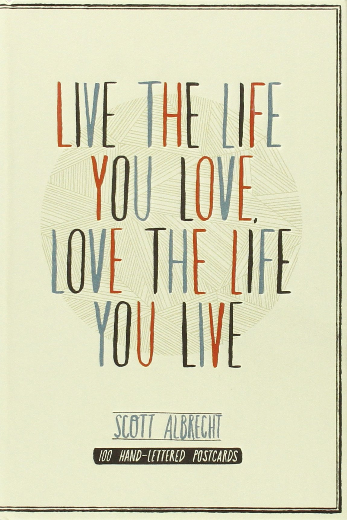 Live Life Love Postcard HAND LETTERED product image