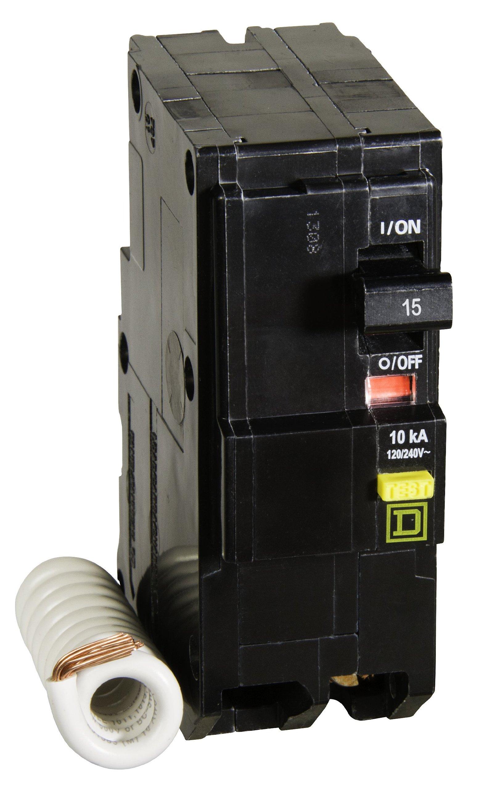 Square D by Schneider Electric QO215GFICP QO Qwik-Gard 15-Amp Two-Pole GFCI Breaker