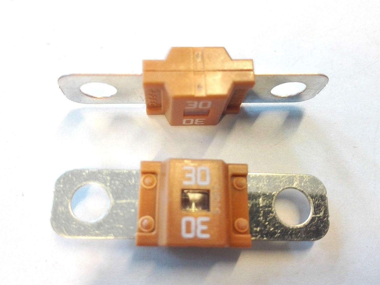 2x Flachstecksicherung Midi Sicherung 30a 32v Grün Gewerbe Industrie Wissenschaft