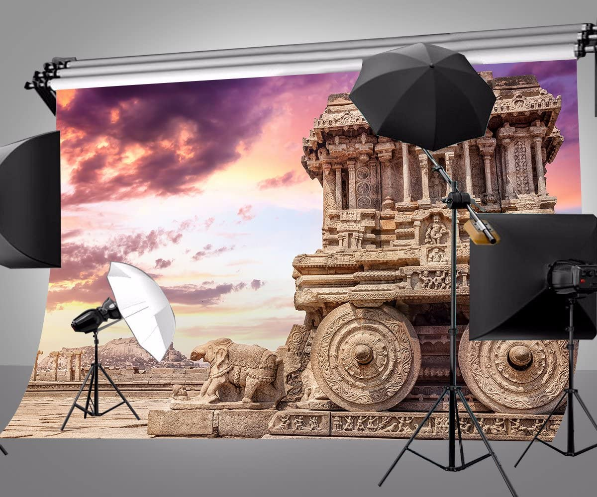 LYLY COUNTY 10/×7 FT Photography Backdrop Rock Chariot Scenery Background Game Video Studio Props 107-280