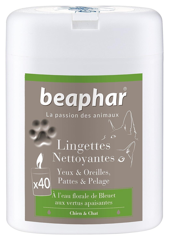 Beaphar - Lingettes nettoyantes pattes, pelage, yeux et oreilles - chien et chat - 40 lingettes 15739 lingettes nettoyantes chien lingettes nettoyantes chat hygiène chien