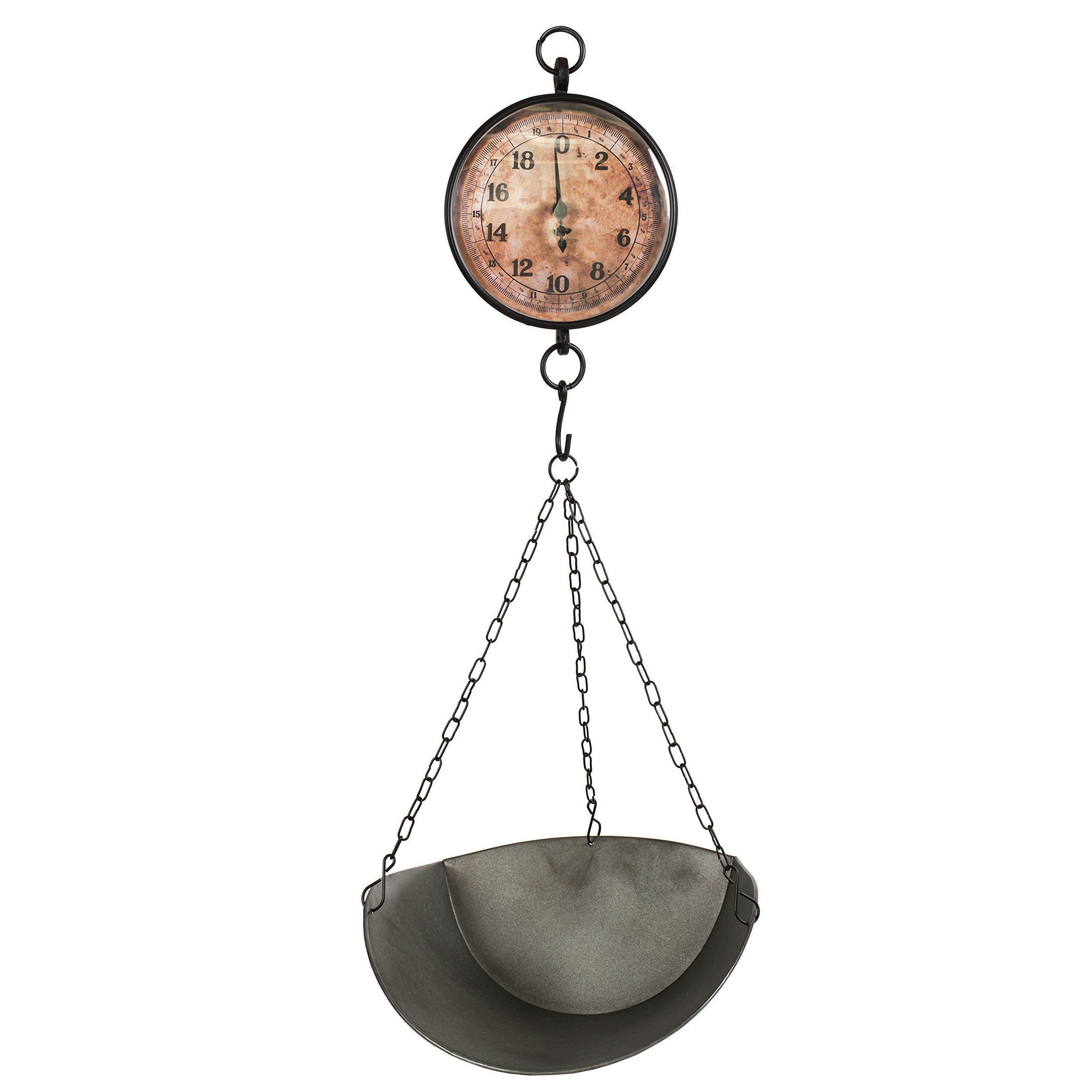 Decorative Vintage Style Market Scale - 13.5''x 6.5x13'' Pan 7.75'' Face