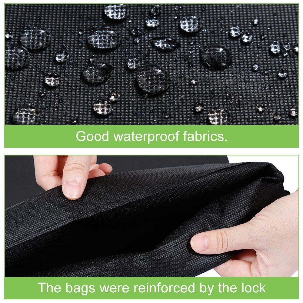 Black 44 * 35cm Lictin 6pcs Travel Shoe Bags Travel Shoe Organizer Storage Bags,Portable Non-Woven Breathable Drawstring Dust-proof Organiser Storage Bag Case for Shoes Boots