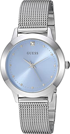 GUESS Women's Quartz Stainless-Steel Strap, Silver, Casual Watch