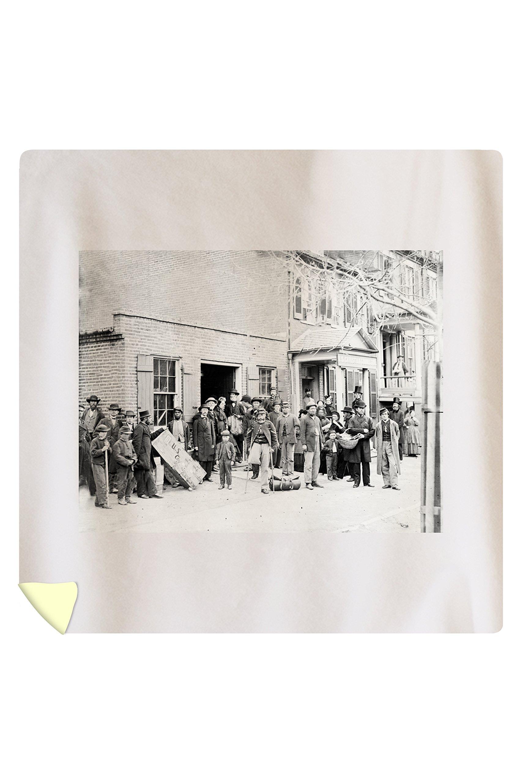Washington, DC - Maimed Soldiers at U.S. Christian Commission Civil War Photograph (88x88 Queen Microfiber Duvet Cover) by Lantern Press