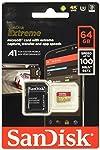 Tarjeta de memoria SanDisk Extreme 64 GB microSDXC para Smartphone, tabletas y cámaras MIL + adaptador SD, velocidad de...
