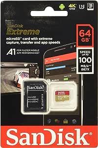 Tarjeta de memoria SanDisk Extreme 64 GB microSDXC para Smartphone ...