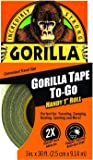 "Gorilla Duct Tape To-Go, 1"" x 30 ft, Black"