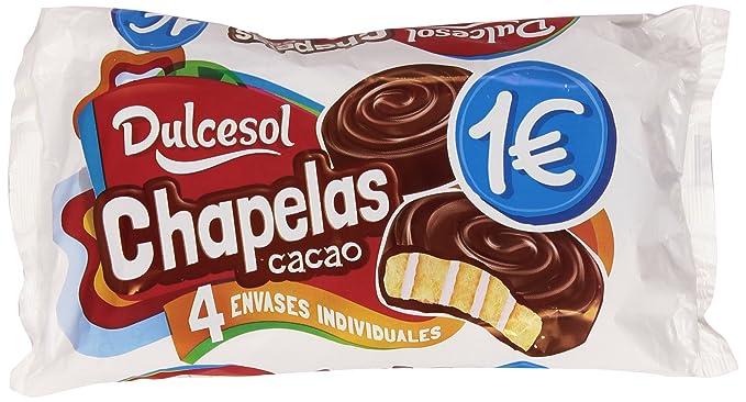 Dulcesol - Chapelas Cacao - Bizcocho cubierto de cacao - 4 unidades