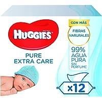 Huggies Pure - Extra Care - babydoekjes 1 doos met 4 pacs (3 x 56 doekjes per verpakking)