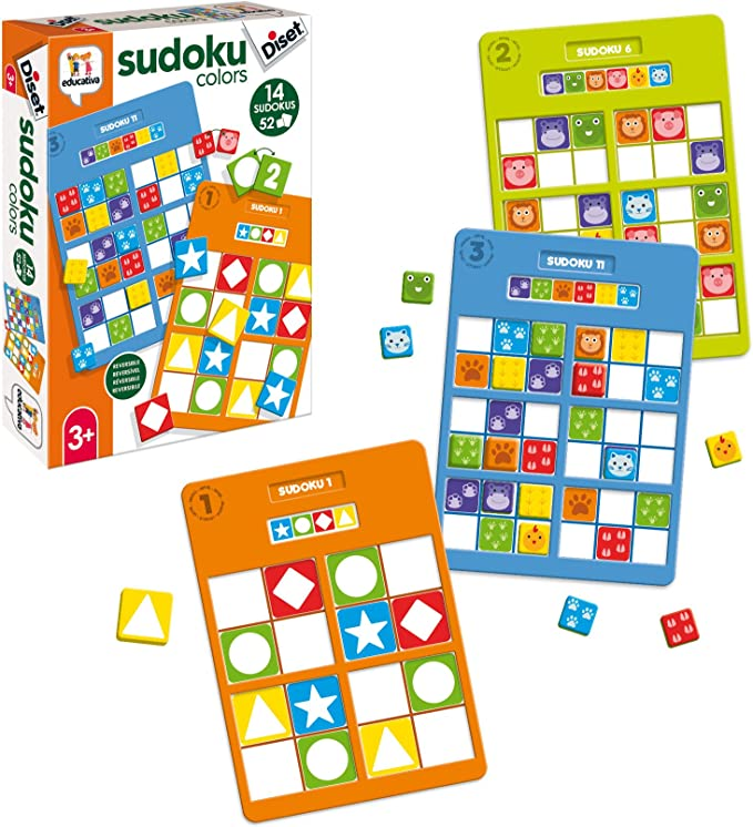 Diset- Sudoku Colors Educativo 3 años Juguete (68969): Amazon.es ...