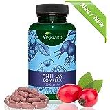 ANTIOSSIDANTI Mix Vegavero | ESTRATTI vegetali ad ALTO dosaggio | Stress Ossidativo – Radicali Liberi – Invecchiamento cellulare - Ideale per Sportivi | Senza Magnesio Stearato | 120 capsule | Vegan