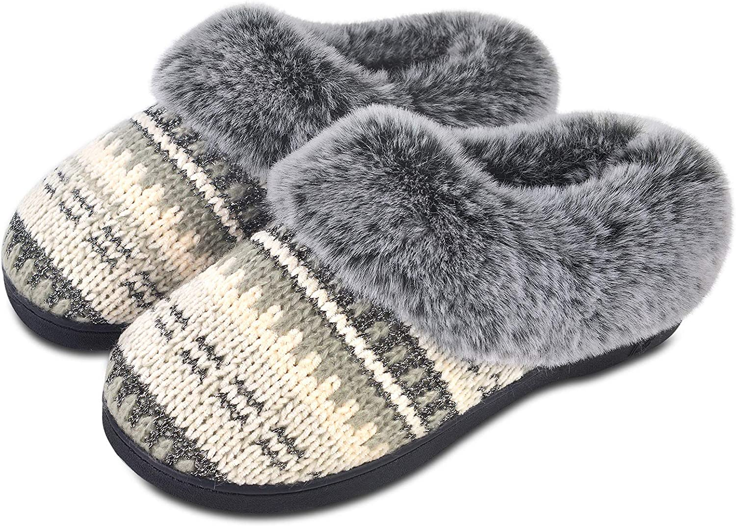Women Winter Furry Warm Plush Slippers Japanese Style Shoes Indoor Fur D2D8
