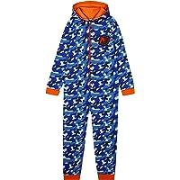 Nerf Pijama Niño de Una Pieza, Pijama Entero de Camuflaje, Pijamas Niños de Algodon con Capucha, Regalos para Niños y…