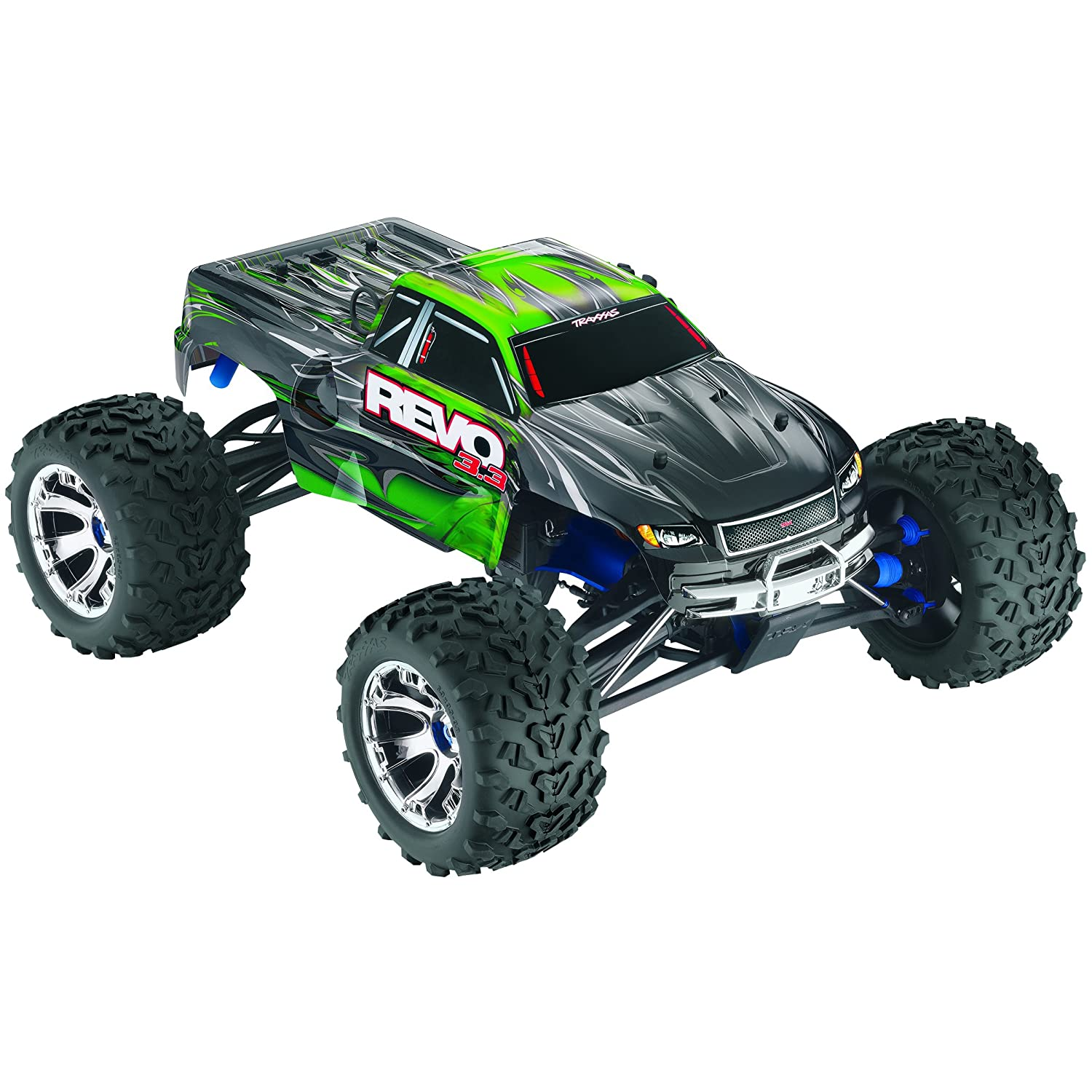 Amazon Traxxas Revo 3 3 4WD Nitro Powered Monster Truck Ready To Race Trucks 1 10 Scale Colors May Vary Toys & Games