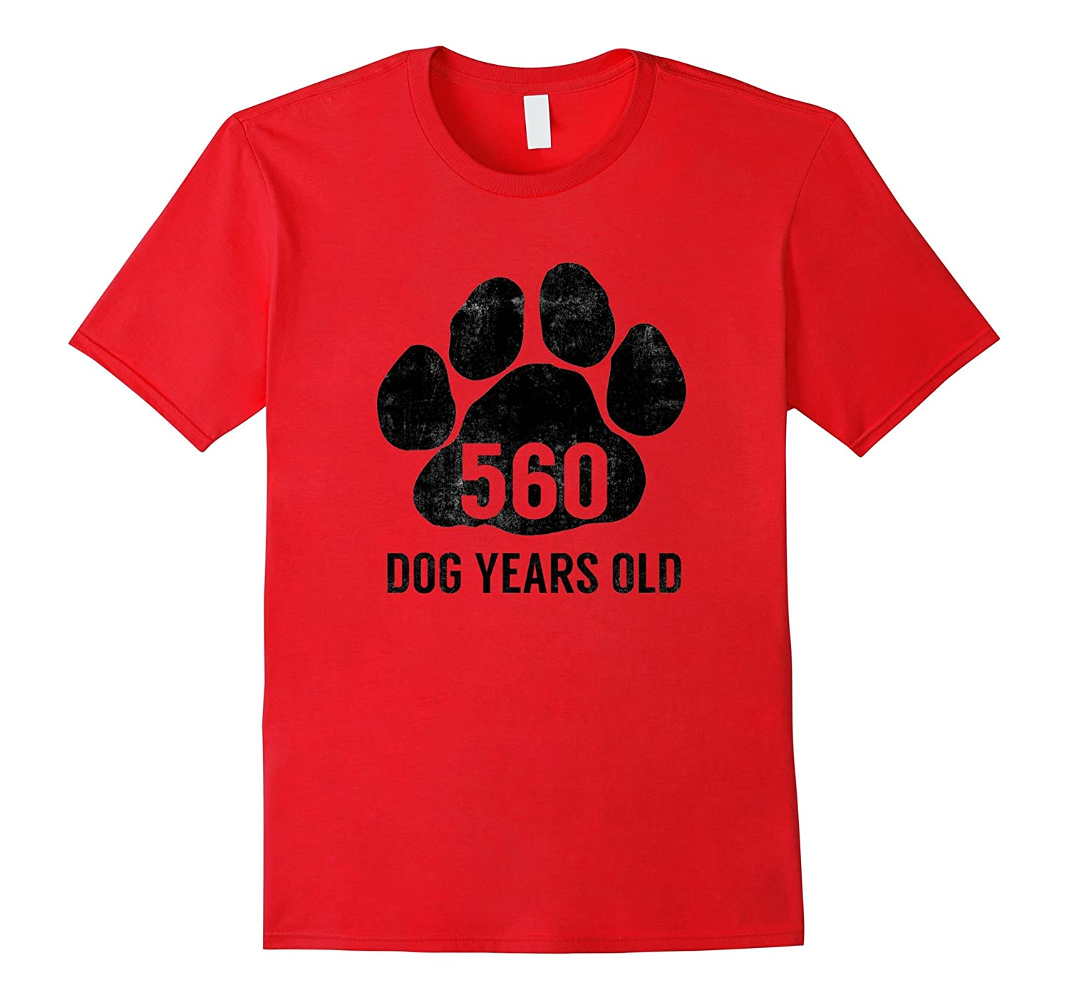 560 Dog Years Old T-Shirt Funny 80th Retired Birthday Gift-4LVS