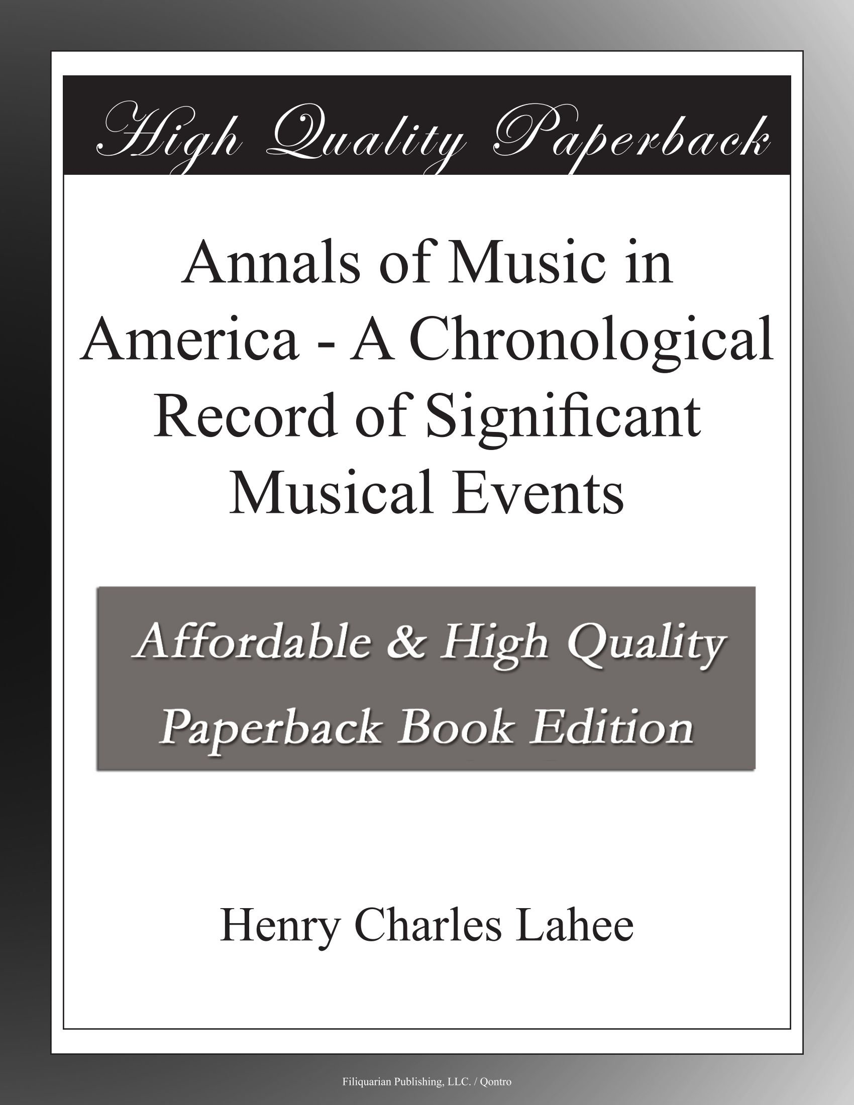 Annals of Music in America - A Chronological Record of Significant Musical Events pdf