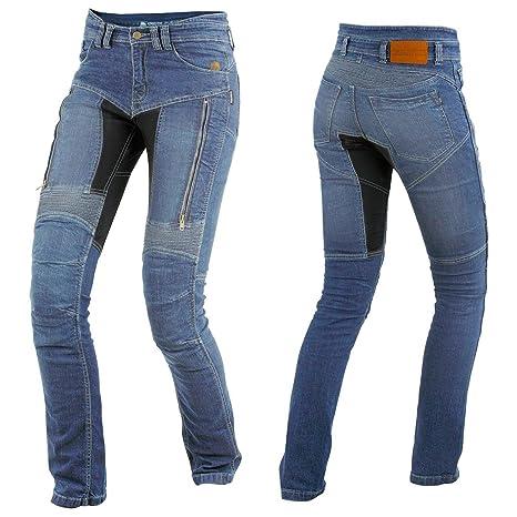 Geschäft beste Qualität für großhandel online Trilobite Parado Dupont Kevlar Jeans Dames - Blau // Motorradjeans // inkl.  Protektoren - Größe Inch 26